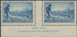 SG 148a 1934 3d Centenary of Victoria perf 11½ imprint pair (AG6/230)